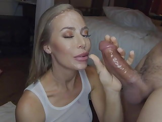 Nicole Aniston near a facial piercing