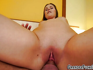 Teens pussy fingered by old man