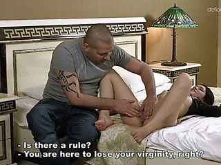 Shy hungarian gal suzy bell loses her virginity in doggy style