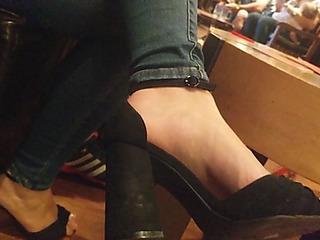 Sexy cutie feet in high heels