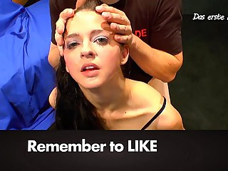 Amateur Nicole get her first bukkake gangbang - Extreme Bukakke