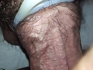 Sleeping wife gets a cumshot on her panties