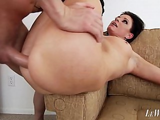 Hot mom goes crazy for a big cock